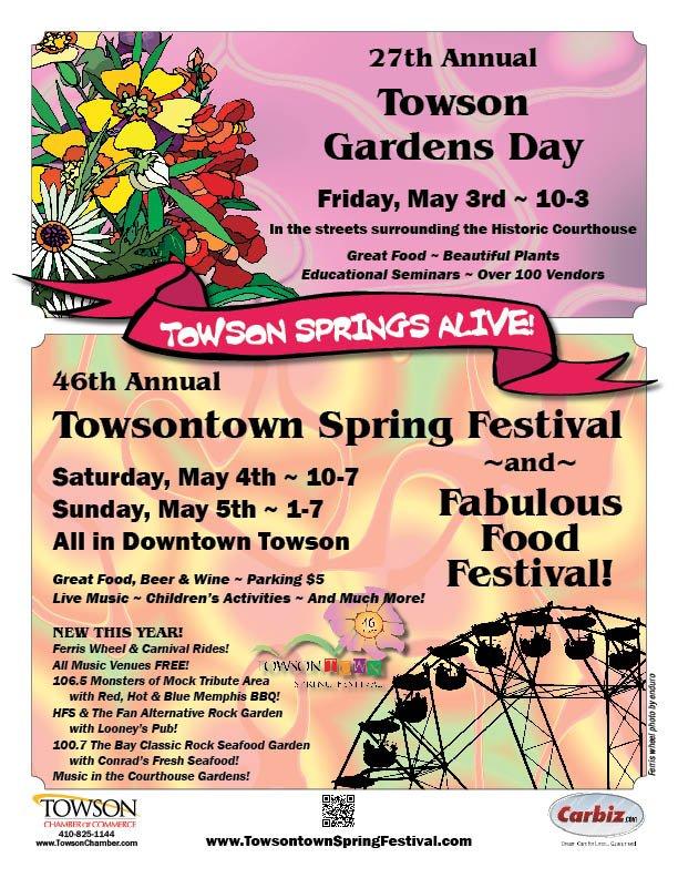 Towson Gardens Day & Towsontown Spring Festival