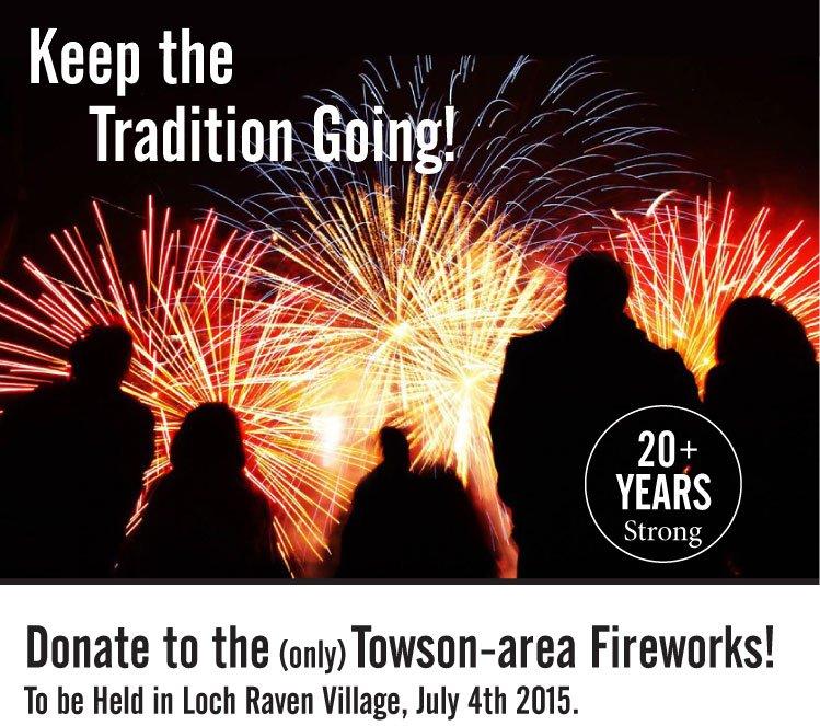Loch Raven Village Fireworks 2015