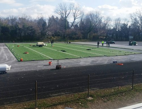 Progress on Towson High School turf field