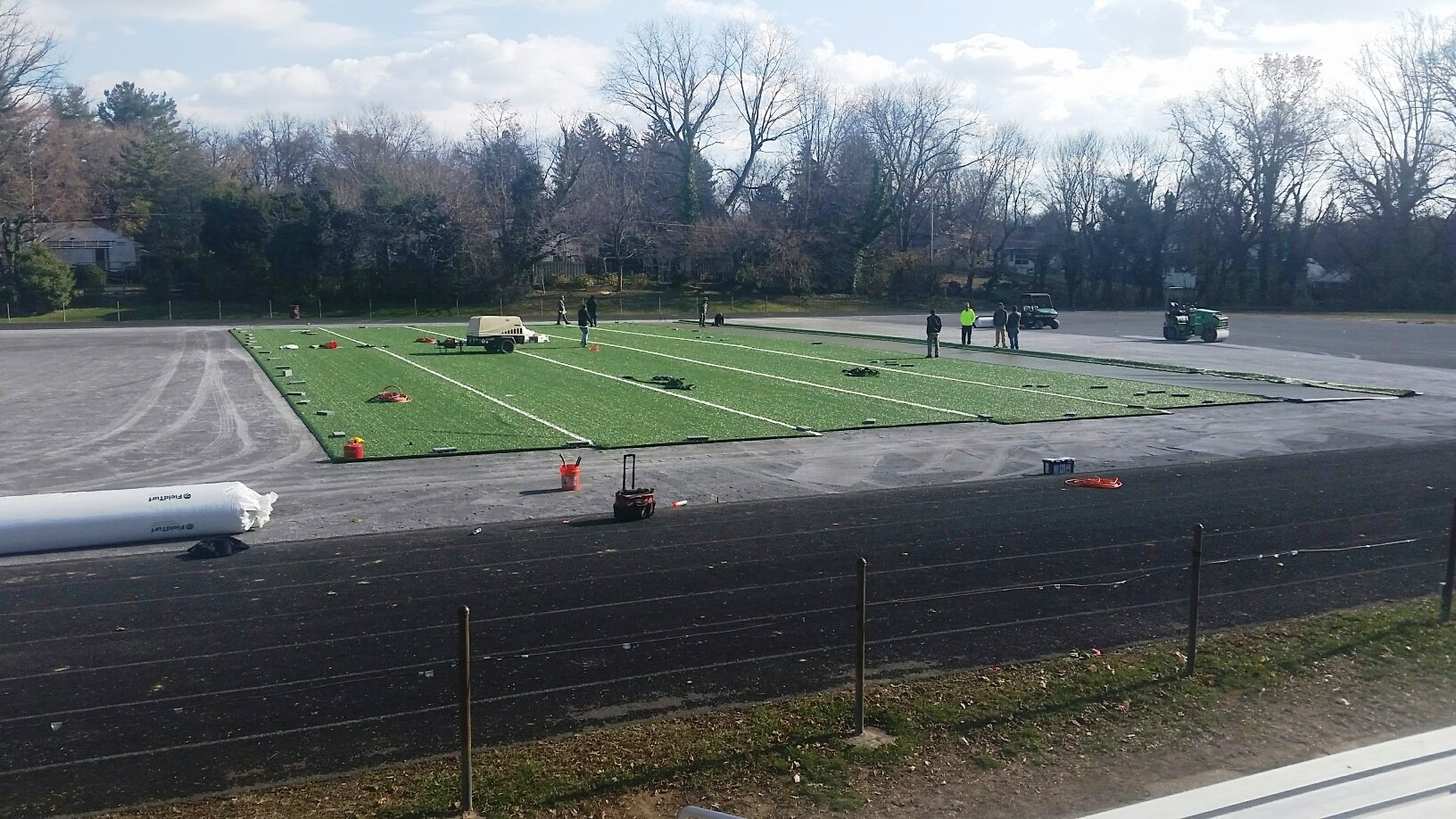New Towson High School turf field