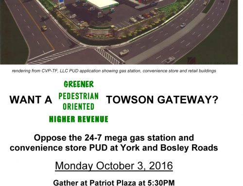 Rally today about Towson Gateway
