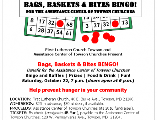 Bags, Baskets & Bites Bingo fundraiser for ACTC!