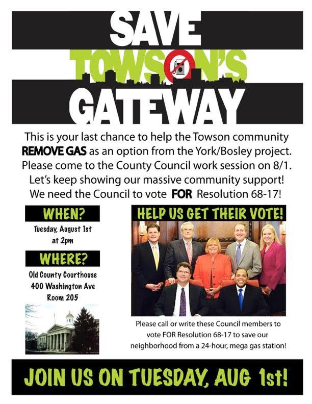 Save Towson's Gateway