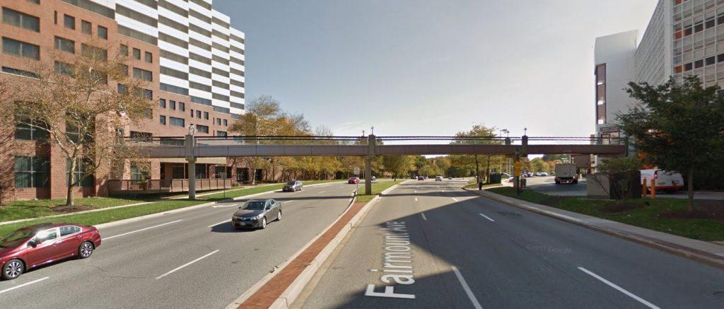 Sheraton Hotel pedestrian bridge
