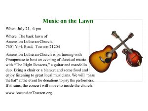 Music on the Lawn @ Ascension Lutheran Church | Towson | Maryland | United States