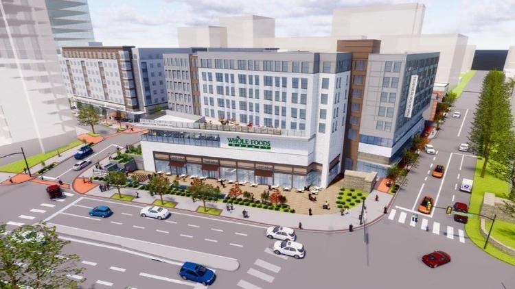 Rendering of Whole Foods at Towson Row