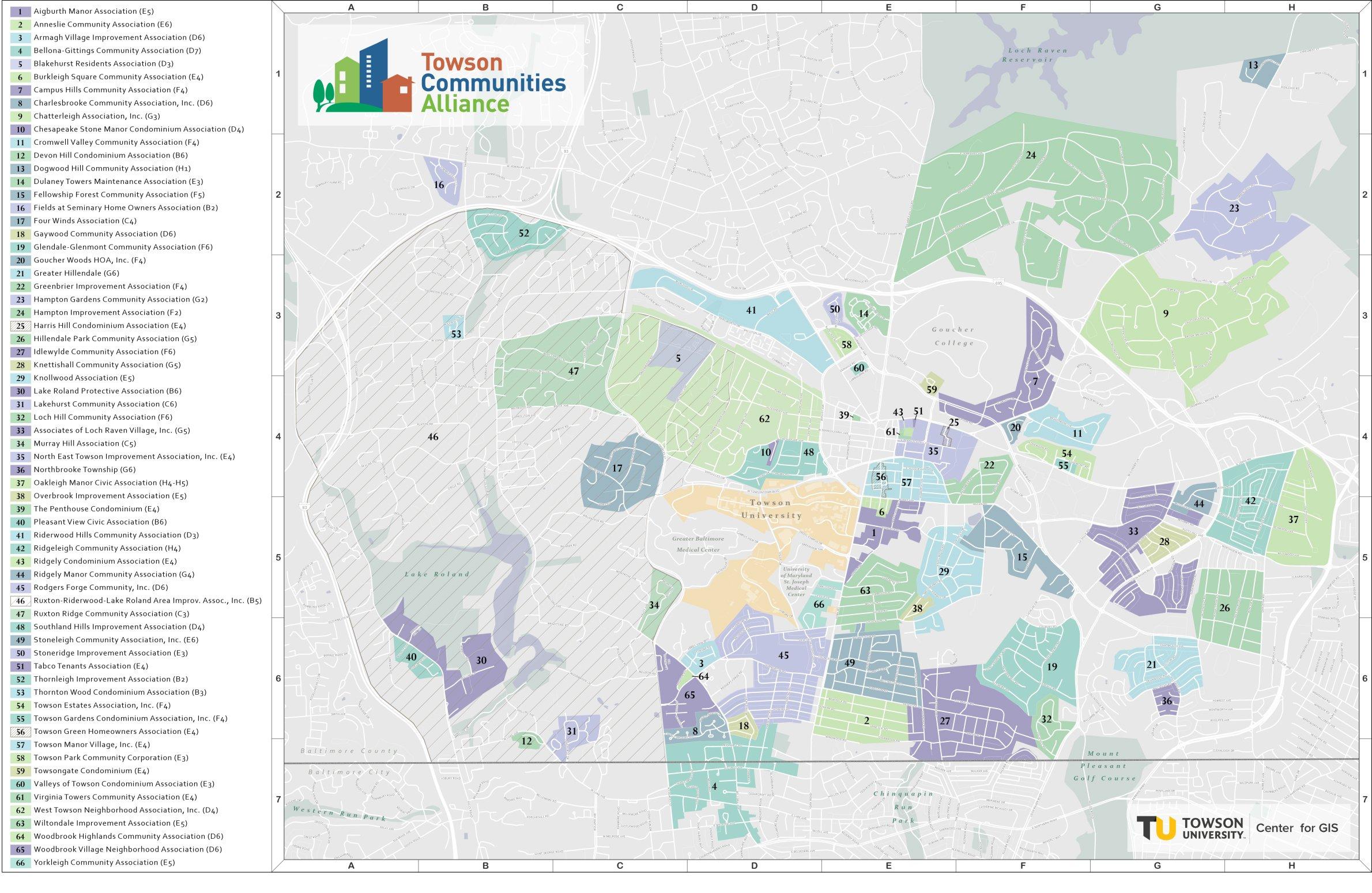 Towson Neighborhood Map
